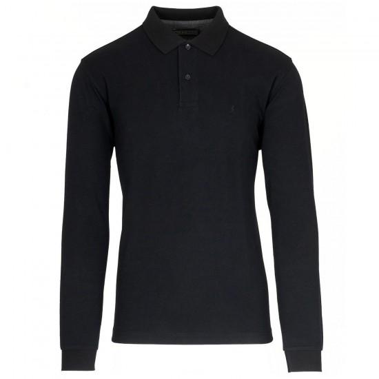THE BOSTONIANS - Μπλούζα Polo 3PL0001 Μαύρο