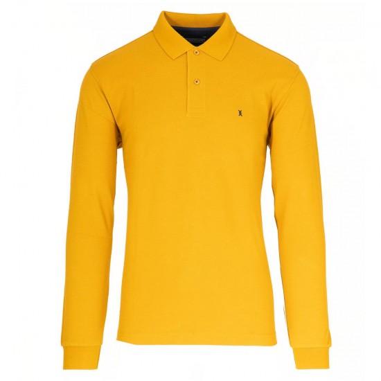 THE BOSTONIANS - Μπλούζα Polo 3PL0001 Μουσταρδί