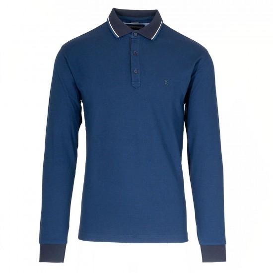 THE BOSTONIANS - Μπλούζα polo 3PL1141 Μπλε