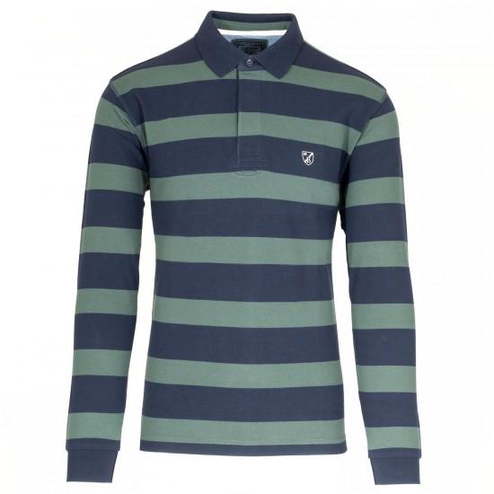 THE BOSTONIANS - Μπλούζα Polo 3PL4098 Πράσινο/Μπλε