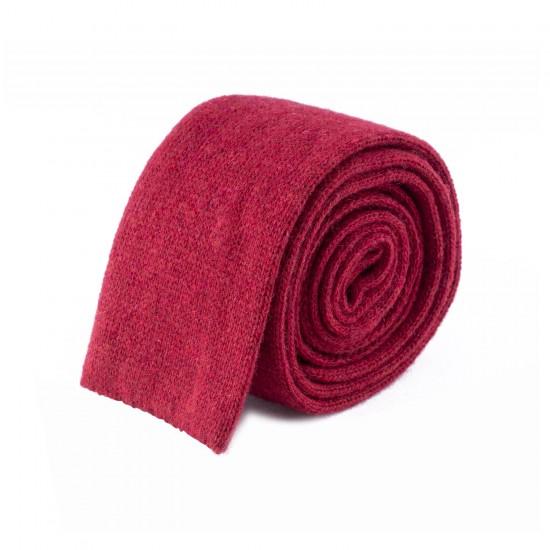 HUGO - Γραβάτα Πλεκτή 6 cm Μπορντό