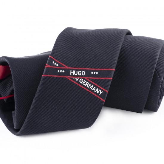 HUGO - Γραβάτα 6 cm 50418422 Μαύρο