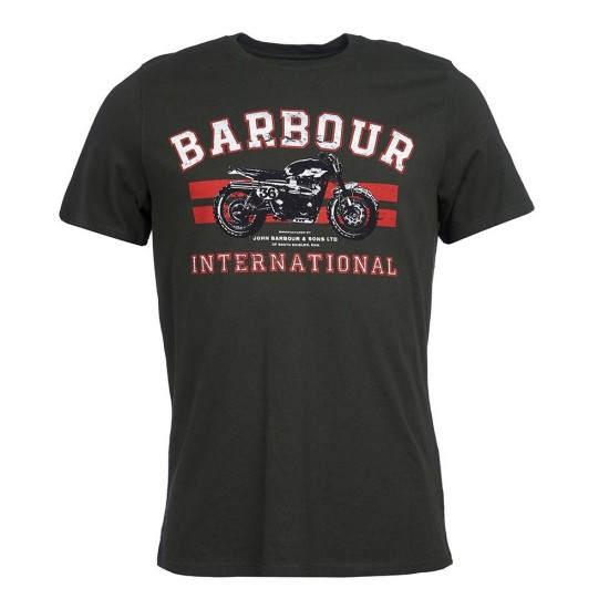 BARBOUR - T-shirt 3BRMTS0668 Λαδί