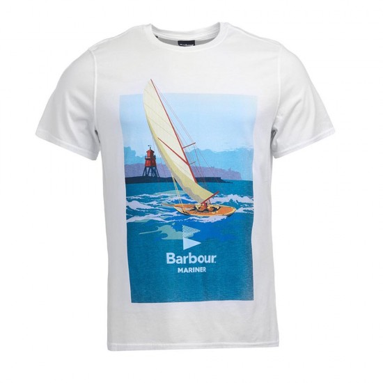 BARBOUR - T-shirt 3BRMTS0678 Λευκό
