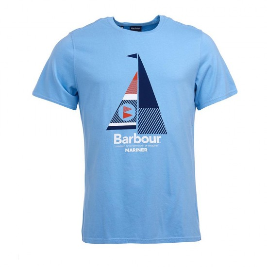 BARBOUR - T-shirt 3BRMTS0681 Γαλάζιο