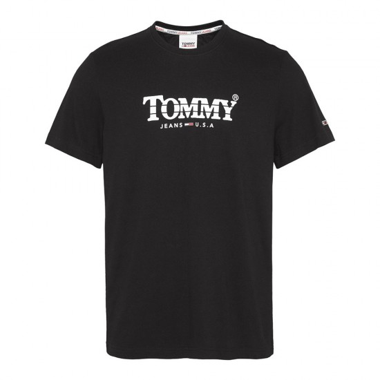 TOMMY JEANS - T-shirt DM0DM08797 Μαύρο