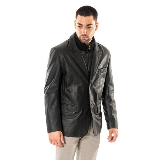 GUY LAROCHE - Δερμάτινο σακάκι 703 Μαύρο