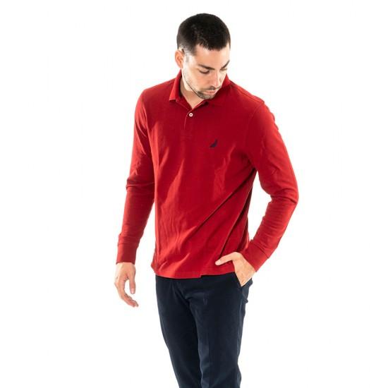 NAUTICA - Μπλούζα Polo 3NCK03150 Κόκκινο