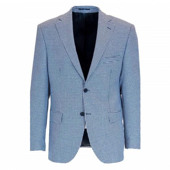 Guy Laroche Σακάκι με μικροσχέδιο GL2013304/10121 Blue Black / Λευκό