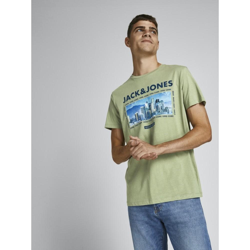 JACK & JONES - T-shirt 12199099 Λαδί