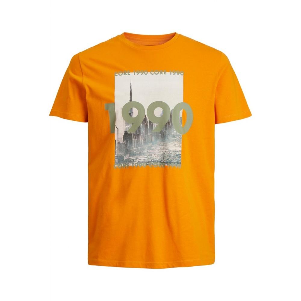 JACK & JONES - T-shirt 12199099 Πορτοκαλί