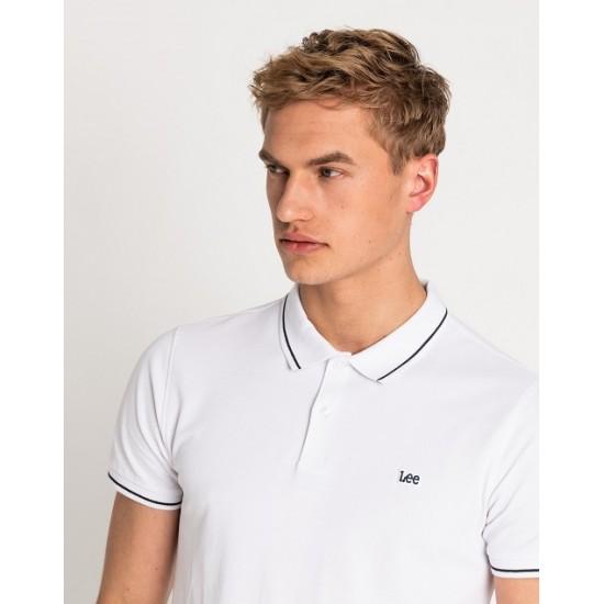 LEE - Μπλούζα Polo L61ARLLJ Λευκό