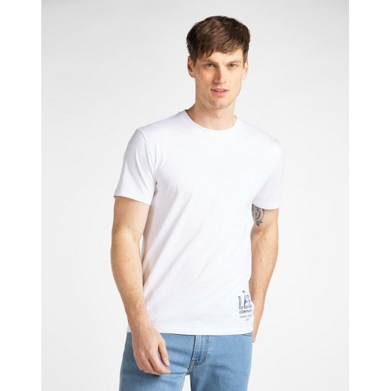 LEE - T-shirt Λευκό