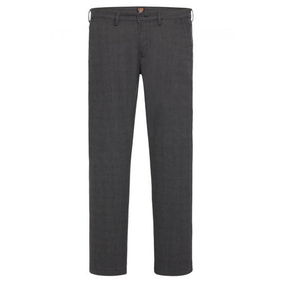 LΕΕ - Παντελόνι Chino Slim Καρό L768QJRV Γκρί