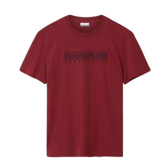 NAPAPIJRI - SEBEL SS T-shirt NP0A4EOBR541 Μπορντό