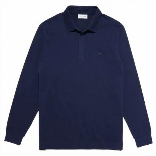 LACOSTE - Μπλούζα polo 3PH2481 Μπλε