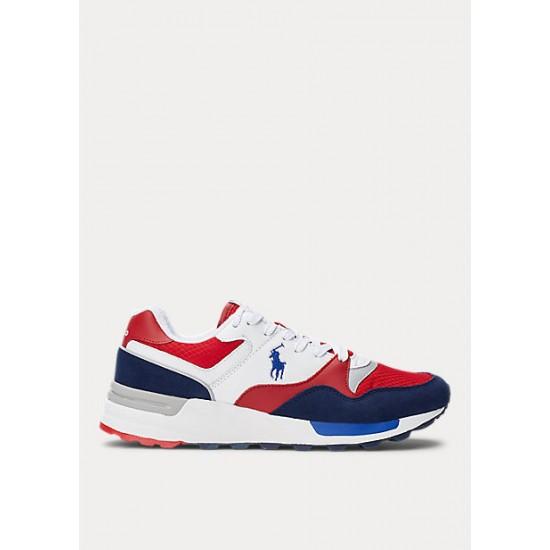 POLO RALPH LAUREN -  Παπούτσια Sneakers 809785418005 Λευκό / Κόκκινο